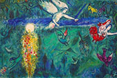 Adam and Eve Expelled from Paradise 1967 - Marc Chagall