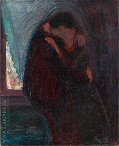 The Kiss 1897 - Edvard Munch reproduction oil painting