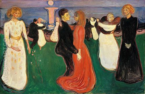 Dance of Life c1899 - Edvard Munch reproduction oil painting