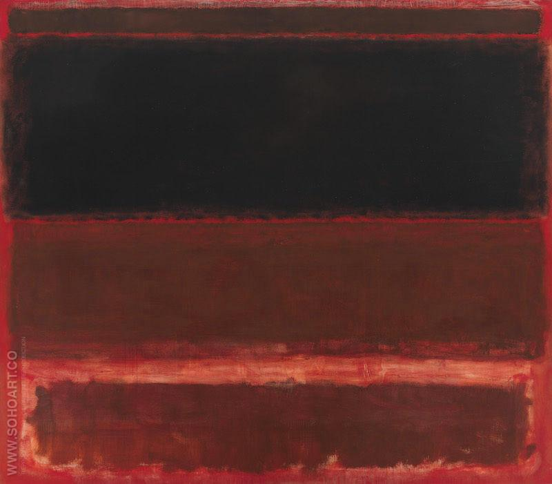 Four Darks in Red 1958 - Mark Rothko reproduction oil painting