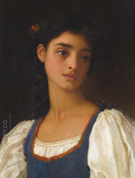 Nicandra - Frederick Lord Leighton reproduction oil painting