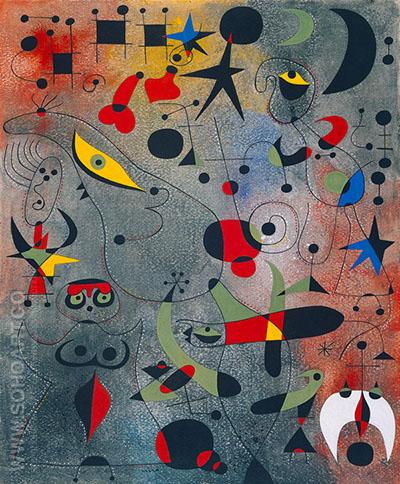 Le Reveil au Petit Jour from Constellations - Joan Miro reproduction oil painting