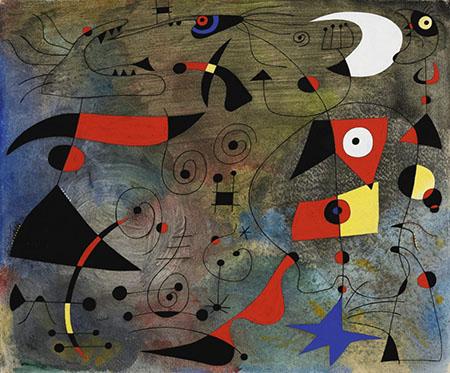 Femme et Oiseau 1940 - Joan Miro reproduction oil painting