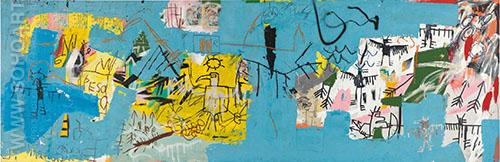 Untitled 1982 L.A. Painting - Jean-Michel-Basquiat reproduction oil painting