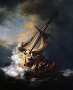 Christ in the Storm on the Lake of Galilee 1663 - Rembrandt Van Rijn