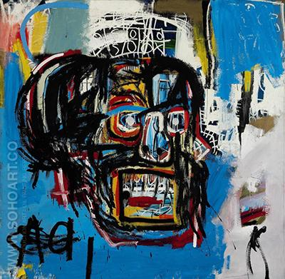 Skull VERSION 2 - Jean-Michel-Basquiat reproduction oil painting