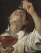 Abbibale Carracci Boy Drinking 1583 - A.J. Casson