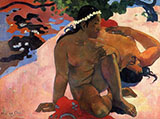 Jealous - Paul Gauguin reproduction oil painting