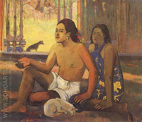 Relax - Paul Gauguin reproduction oil painting