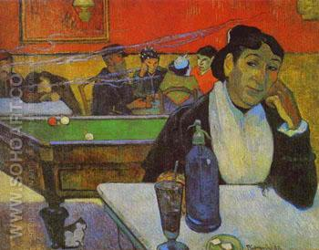 Cafe Arles - Paul Gauguin reproduction oil painting