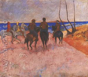 Riders on the Beach - Paul Gauguin reproduction oil painting