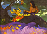 By the Sea - Paul Gauguin reproduction oil painting