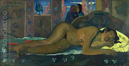 Nevermore O Tahiti - Paul Gauguin reproduction oil painting