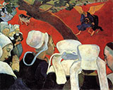 Jacob Wrestling the Angel - Paul Gauguin reproduction oil painting