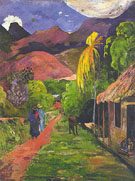 Tahiti Road - Paul Gauguin reproduction oil painting