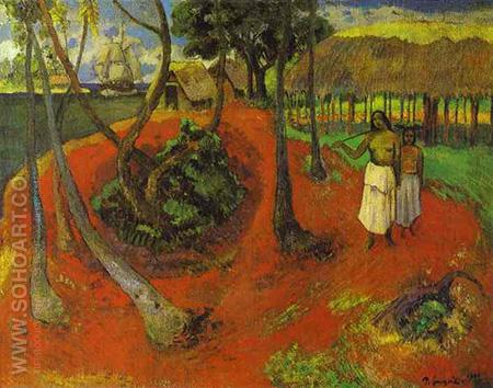 Idyll - Paul Gauguin reproduction oil painting