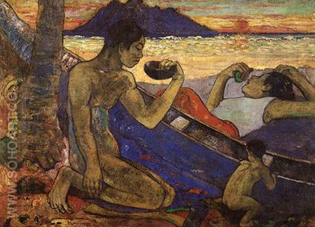 The Dugout - Paul Gauguin reproduction oil painting