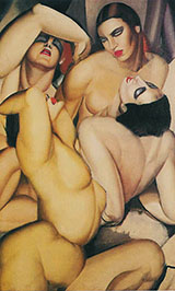 Four Nudes 1925 - Tamara de Lempicka reproduction oil painting