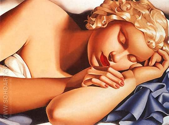 Sleeping Woman 1935 - Tamara de Lempicka reproduction oil painting