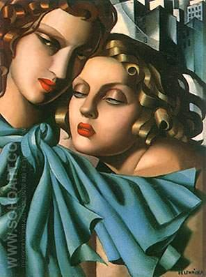 The Girls - Tamara de Lempicka reproduction oil painting