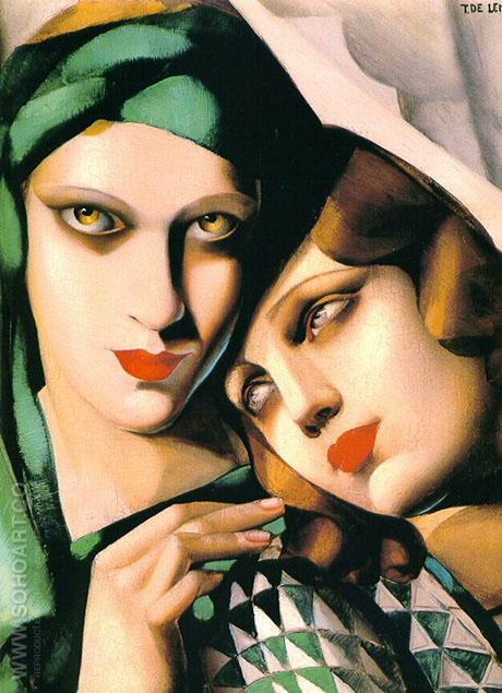 Green Turban - Tamara de Lempicka reproduction oil painting