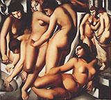 Bathing Women 1929 - Tamara de Lempicka reproduction oil painting