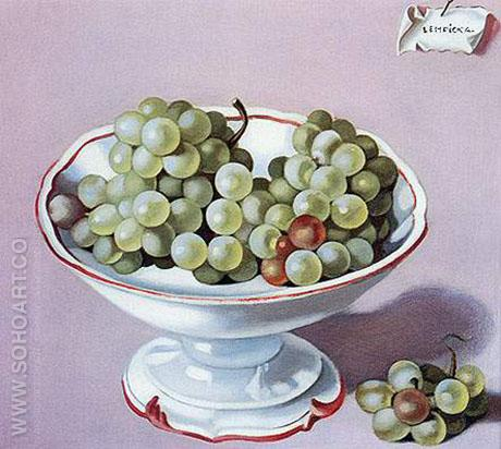 Bowl of Grapes 1949 - Tamara de Lempicka reproduction oil painting