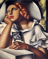 Eune Fille a la Fenetre - Tamara de Lempicka