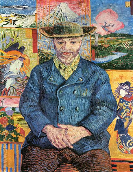 Portrait of Pere Tanguy - Vincent van Gogh reproduction oil painting