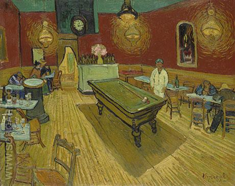 The Night Cafe in Arles - Vincent van Gogh reproduction oil painting