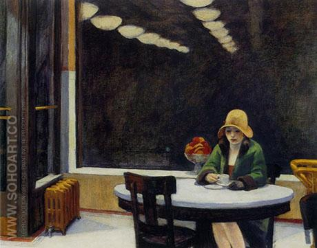 Automat 1927 - Edward Hopper reproduction oil painting