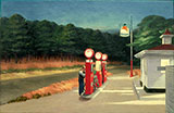 Gas 1940 - Edward Hopper reproduction oil painting