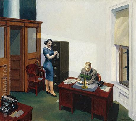 Office at Night 1940 - Edward Hopper reproduction oil painting