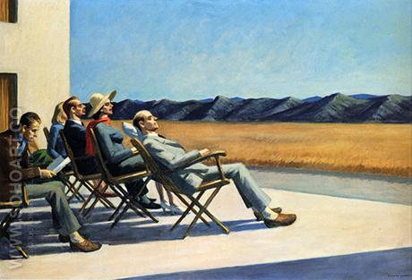 People in the Sun 1960 - Edward Hopper reproduction oil painting