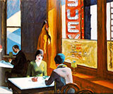 Chop Suey 1929 - Edward Hopper reproduction oil painting