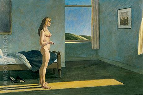 Woman in Sun 1961 - Edward Hopper reproduction oil painting