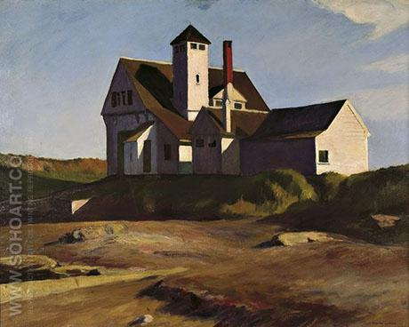 Coast Guard Station 1927 - Edward Hopper reproduction oil painting