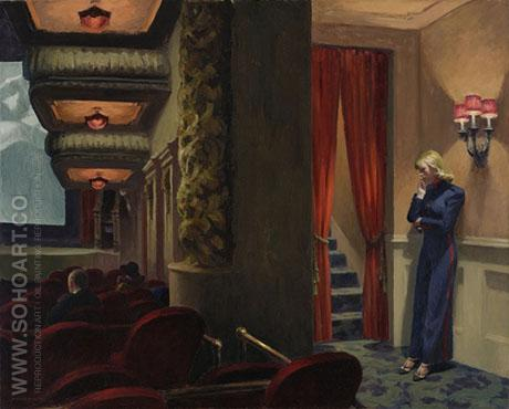 New York Movie 1939 - Edward Hopper reproduction oil painting