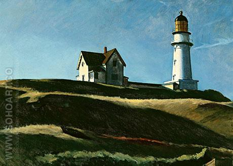 Light House Hill 1927 - Edward Hopper reproduction oil painting
