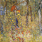 Farm Garden With Crucifix - Gustav Klimt reproduction oil painting
