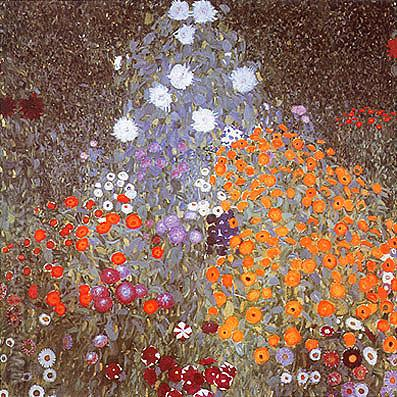 Flower Garden (1905) - Gustav Klimt reproduction oil painting