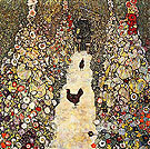 Garden Path with Chickens - Gustav Klimt