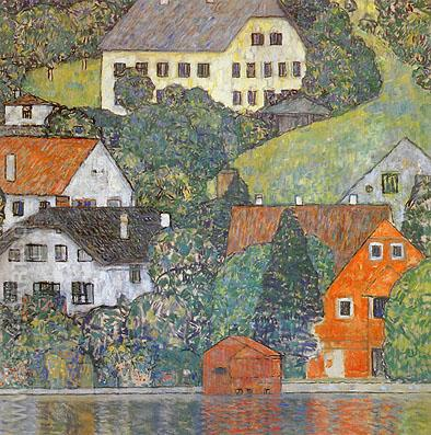 House in Unterach on the Attersee (1916) - Gustav Klimt reproduction oil painting