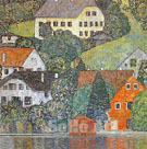 House in Unterach on the Attersee (1916) - Gustav Klimt