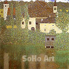 Schloss Kammer on the Attersee (1901) - Gustav Klimt reproduction oil painting