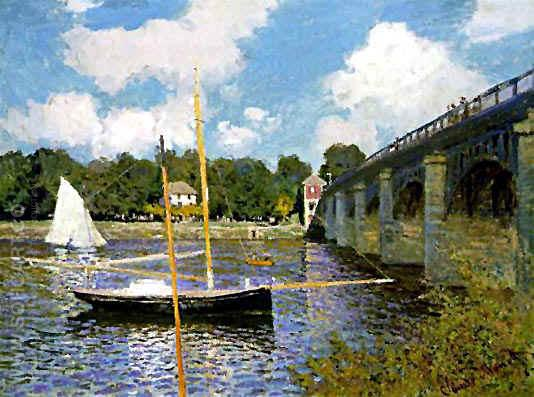 Road Bridge at Argenteuil - Claude Monet reproduction oil painting