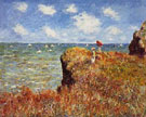 Cliff Walk at Pourville - Claude Monet reproduction oil painting