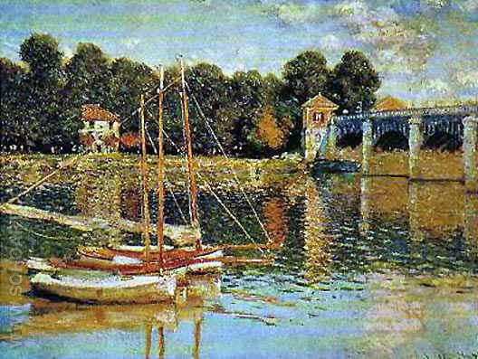 The Bridge at Argenteuil - Claude Monet reproduction oil painting