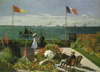 Garden at Sainte-Adresse, 1867 - Claude Monet reproduction oil painting