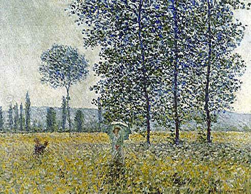 Under the Poplars - Claude Monet reproduction oil painting